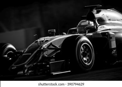 BARCELONA - FEBRUARY 23: Esteban Gutierrez of Haas F1 Team at Formula One Test Days at Catalunya circuit on February 23, 2016 in Barcelona, Spain.