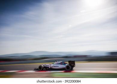 BARCELONA - FEBRUARY 24: Felipe Massa of Williams F1 Team at Formula One Test Days at Catalunya circuit on February 24, 2016 in Barcelona, Spain.