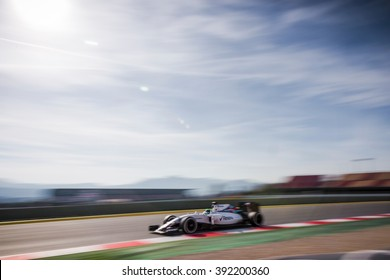 BARCELONA - FEBRUARY 24: Felipe Massa of Williams F1 Team at Formula One Test Days at Catalunya circuit on February 24, 2016 in Barcelona, Spain.