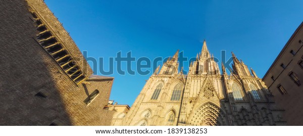 Barcelona. Gothic quarter of Barcelona. Catalonia.Spain