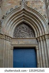 Barcelona Gothic Quarter Door Architectural Details