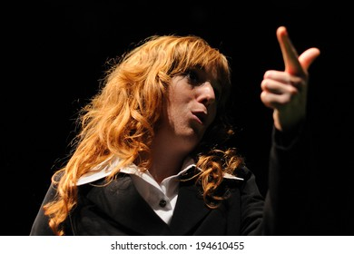BARCELONA - JAN 13: An actress of the Barcelona Theater Institute, plays in the comedy Shakespeare For Executives on January 13, 2013 in Barcelona, Spain.