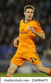 BARCELONA - JAN, 21: Asier Illarramendi of Real Madrid during the Spanish Kings Cup match between Espanyol and Real Madrid at the Estadi Cornella on January 21, 2014 in Barcelona, Spain