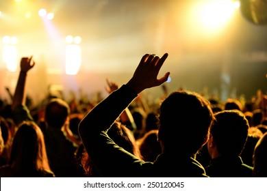 BARCELONA - JAN 29: Crowd  in a concert at Razzmatazz venue on January 29, 2015 in Barcelona, Spain.