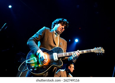 BARCELONA - JAN 9: The Limboos (Rhythm and Blues band) performs at Apolo venue on January 9, 2015 in Barcelona, Spain.
