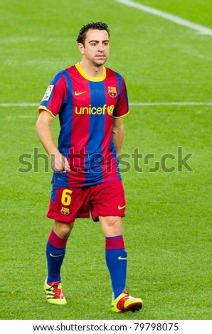 193e2822ea6 BARCELONA - JANUARY 12: Xavi Hernandez (6) during Spanish Cup match between  FC