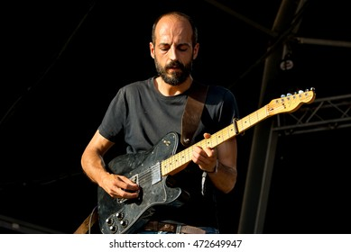 BARCELONA - JUL 1: Inspira (band) perform in concert at Vida Festival on July 1, 2016 in Barcelona, Spain.