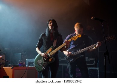BARCELONA - JUL 16: Queen Kwong (band) perform in concert at Apolo stage on Jul 16, 2018 in Barcelona, Spain.