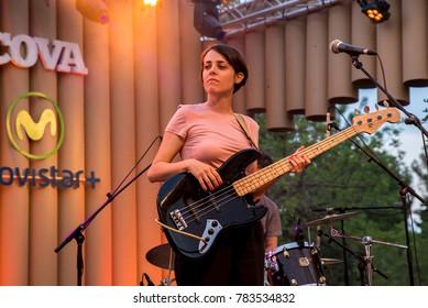 BARCELONA - JUL 2: Doble Pletina (band) perform in concert at Vida Festival on July 2, 2016 in Barcelona, Spain.