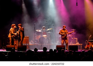 BARCELONA - JUL 24: Abbey Road (band tribute to the Beatles) performs at Golden Revival Festival on July 24, 2014 in Barcelona, Spain.
