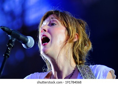 BARCELONA - JULY 27: Beth Orton (singer) concert at Poble Espanyol on July 27, 2012 in Barcelona, Spain.