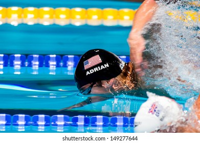BARCELONA - JULY  31: Nathan Adrian ( USA)  in action during Barcelona FINA World Swimming Championships on July 31, 2013 in Barcelona, Spain