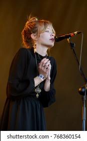 BARCELONA - JUN 1: Alexandra Savior (singer) performs in concert at Primavera Sound 2017 Festival on June 1, 2017 in Barcelona, Spain.