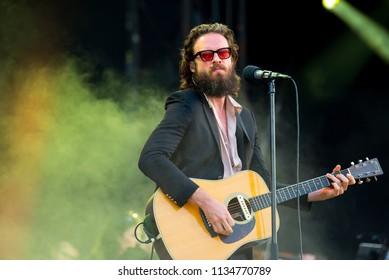 BARCELONA - JUN 1: Father John Misty (band) perform in concert at Primavera Sound Festival on June 1, 2018 in Barcelona, Spain.