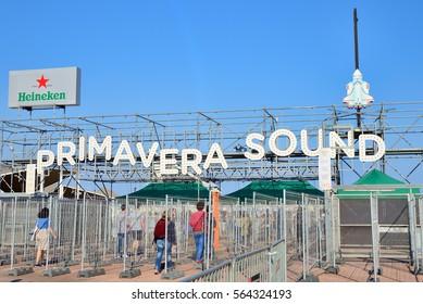 BARCELONA - JUN 1: The Primavera Sound 2016 Festival letters on June 1, 2016 in Barcelona, Spain.