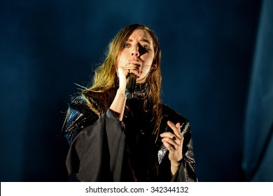 BARCELONA - JUN 14: Lykke Li (singer and songwriter from Sweden) performs at Sonar Festival on June 14, 2014 in Barcelona, Spain.