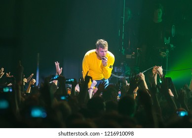 BARCELONA - JUN 15: Gorillaz (band) perform in concert at Sonar Festival on June 15, 2018 in Barcelona, Spain.