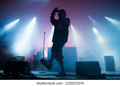 BARCELONA - JUN 15: Yung Lean (rap trap band) perform in concert at Sonar Festival on June 15, 2018 in Barcelona, Spain.