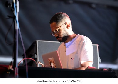 BARCELONA - JUN 18: Kaytranada (Haitian-Canadian electronic musician, producer and DJ) performs in concert at Sonar Festival on June 18, 2016 in Barcelona, Spain.