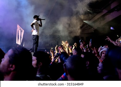 BARCELONA - JUN 19: ASAP Rocky (rapper from Harlem and member of the hip hop collective ASAP Mob) in concert at Sonar Festival on June 19, 2015 in Barcelona, Spain.