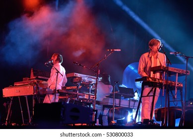 BARCELONA - JUN 2: Air (French band) perform in concert at Primavera Sound 2016 Festival on June 2, 2016 in Barcelona, Spain.