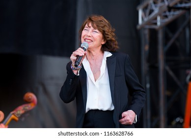 BARCELONA - JUN 2: Jane Birkin (band) perform in concert at Primavera Sound Festival on June 2, 2018 in Barcelona, Spain.