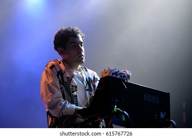 BARCELONA - JUN 2: Neon Indian (band) perform in concert at Primavera Sound 2016 Festival on June 2, 2016 in Barcelona, Spain.