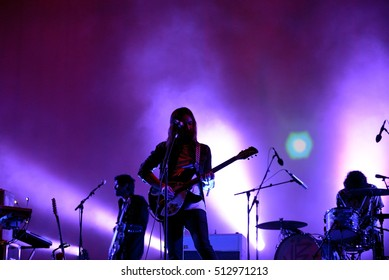 BARCELONA - JUN 2: Tame Impala (psychedelic band) perform in concert at Primavera Sound 2016 Festival on June 2, 2016 in Barcelona, Spain.