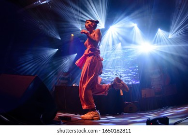 BARCELONA - JUN 22: Mueveloreina (trap band) perform in concert at Razzmatazz stage on June 22, 2019 in Barcelona, Spain.