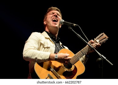 BARCELONA - JUN 3: Hamilton Leithauser  (songwriter) performs in concert at Primavera Sound 2017 Festival on June 3, 2017 in Barcelona, Spain.