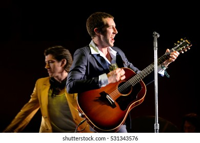 BARCELONA - JUN 3: The Last Shadow Puppets (band) perform in concert at Primavera Sound 2016 Festival on June 3, 2016 in Barcelona, Spain.