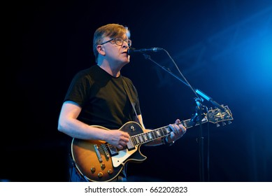 BARCELONA - JUN 3: Teenage Fanclub (indie music band) perform in concert at Primavera Sound 2017 Festival on June 3, 2017 in Barcelona, Spain.