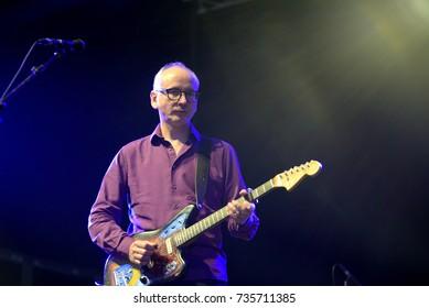 BARCELONA - JUN 3: Teenage Fanclub (indie music band) perform in concert at Primavera Sound 2017 Festival on June 3, 2017 in Barcelona, Spain.