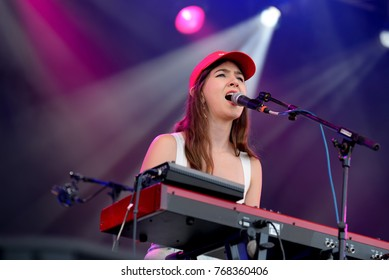 BARCELONA - JUN 3: Weyes Blood (music band) perform in concert at Primavera Sound 2017 Festival on June 3, 2017 in Barcelona, Spain.