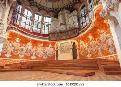 Barcelona, Spain / June 02, 2012 : Interior of the Catalan Music Palace in Barcelona, Spain - editorial use only