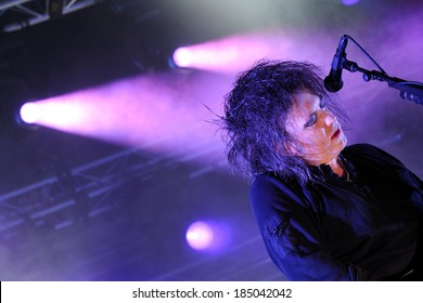 BARCELONA - JUNE 1: The Cure (English rock band) performs at San Miguel Primavera Sound Festival on June 1, 2012 in Barcelona, Spain.