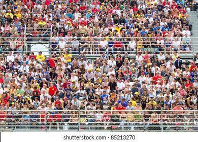 BARCELONA - JUNE 5:Supporters at the race of MotoGP Grand Prix of Catalunya, on June 5, 2011 in Barcelona, Spain.