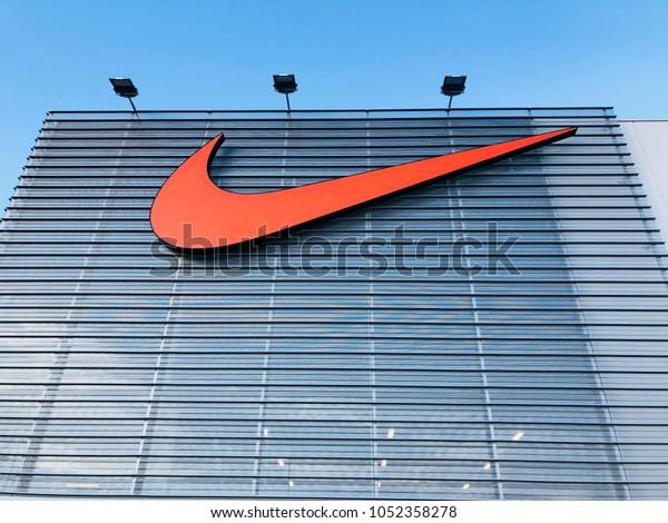 Nebu Simpático Enseñando  Barcelona Mar 13 Nike Store La Stock Photo (Edit Now) 1052358278
