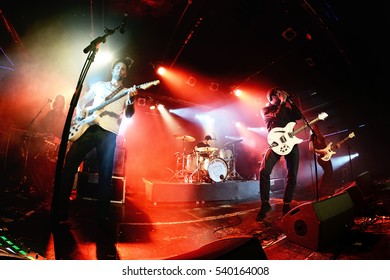 BARCELONA - MAR 17: The Vaccines (band) in concert at Razzmatazz stage on March 17, 2016 in Barcelona, Spain.