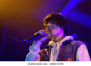 BARCELONA - MAR 26: Lil Xan (band) perform in concert at Razzmatazz on March 26, 2019 in Barcelona, Spain.