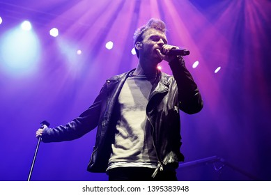 BARCELONA - MAR 9: Finneas O'Connell (the brother of Billie Eilish) performs in concert at Sant Jordi Club stage on March 9, 2019 in Barcelona, Spain.