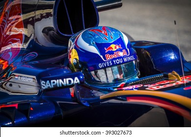 BARCELONA - MARCH 1: Max Verstappen of Toro Rosso F1 Team at Formula One Test Days at Catalunya circuit on March 1, 2016 in Barcelona, Spain.