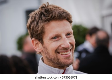 BARCELONA - MARCH 1: Romain Grosjean of Haas F1 Team at Formula One Test Days at Catalunya circuit on March 1, 2016 in Barcelona, Spain.