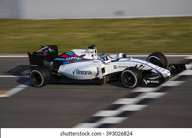 BARCELONA - MARCH 1: Valtteri Bottas of Williams F1 Team at Formula One Test Days at Catalunya circuit on March 1, 2016 in Barcelona, Spain.