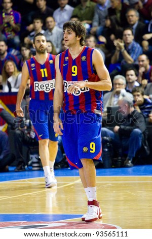 90021a1d0b0 BARCELONA - MARCH 24  Ricky Rubio (9) of Barcelona in action during the Euroleague  basketball match between FC Barcelona and Panathinaikos