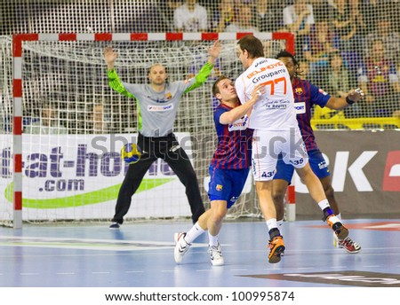 d673c81c27f BARCELONA - MARCH 25  Nikola Karabatic (22) in action at EHF Champions  League