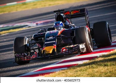BARCELONA - MARCH 3: Max Verstappen of Toro Rosso F1 Team at Formula One Test Days at Catalunya circuit on March 3, 2016 in Barcelona, Spain.