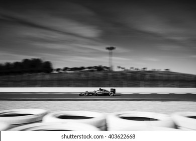 BARCELONA - MARCH 3: Nico Rosberg of Mercedes F1 Team at Formula One Test Days at Catalunya circuit on March 3, 2016 in Barcelona, Spain.