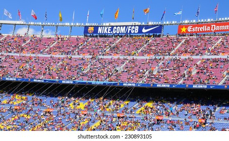 competitive price 1fd54 4aa03 BARCELONA - MAY 03  People at the Camp Nou Stadium prior to the La Liga