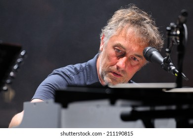 BARCELONA - MAY 08: Yann Tiersen, French musician, performance at Barts stage on May 08, 2014 in Barcelona, Spain.